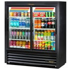 True GDM-41SL-54-HC-LD 47 inch Black Narrow Depth Refrigerated Convenience Store Merchandiser with LED Lighting