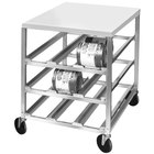 Channel CSR-3MP Half Size Mobile Aluminum Can Rack for (54) #10 Cans with Poly Top