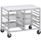 Channel DS2414/P 14 Pan End Load Undercounter Prep Top Double Sheet / Bun Pan Rack - Assembled
