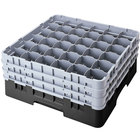 "Cambro 36S958110 Black Camrack 36 Compartment 10 1/8"" Glass Rack"