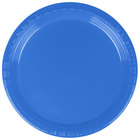 Creative Converting 28145011B 7 inch True Blue Plastic Plate - 50/Pack