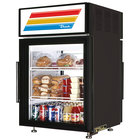 True GDM-5PT-LD Black Pass-Through Countertop Display Refrigerator with Swing Door - 5 cu. ft.