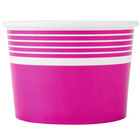 Choice 12 oz. Pink Paper Frozen Yogurt Cup - 50/Pack