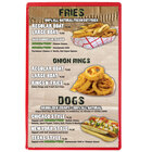 Menu Solutions H500A CHERRY Hamilton 5 1/2 inch x 8 1/2 inch Single Panel Two View Cherry Menu Board
