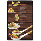 Menu Solutions H500A BLACK Hamilton 5 1/2 inch x 8 1/2 inch Single Panel Two View Black Menu Board