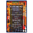 Menu Solutions H500A ROY BL Hamilton 5 1/2 inch x 8 1/2 inch Single Panel Two View Royal Blue Menu Board