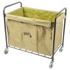 Lavex Lodging 12 Bushel Metal and Canvas Laundry / Trash Cart with Handles