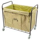 Lavex Laundry Cart / Trash Cart, 12 Bushel Metal and Canvas Cart with Handles