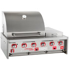 MagiKitch'n MKO45 Natural Gas 45 inch Stainless Steel Built-In Outdoor Grill / Charbroiler