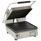 Star PGT14IGT Pro-Max 2.0 Single 14 inch Panini Grill with Grooved Top and Smooth Bottom Cast Iron Plates - Dial Controls
