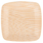 Bambu 063800 3 1/2 inch Disposable Square Bamboo Tasting Plate - 25 / Pack