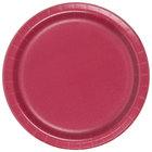 Creative Converting 793122B 7 inch Burgundy Paper Plate - 24/Pack