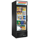 True GDM-23-HC~TSL01 BK LH Black One Section Glass Door Refrigerated Merchandiser with LED Lighting and Left-Hinged Door