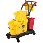 Rubbermaid FG778000YEL WaveBrake® 35 Qt. Yellow Mopping Trolley with Side Press Wringer