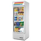 True GDM-23-LD White Glass Door Refrigerated Merchandiser with LED Lighting