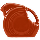 Homer Laughlin 475334 Fiesta Paprika 4.75 oz. Mini Disc Creamer Pitcher - 4/Case