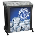 88 Qt. Black Avalanche Platinum Mobile Merchandiser / Cooler with LED Light - 30 inch x 18 inch x 32 inch