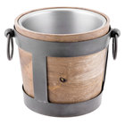 10 Strawberry Street TELL-8WINEBKT Telluride Natural Wood Wine / Ice Bucket