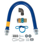 Dormont 16100BPQR36 SnapFast® 36 inch Gas Connector Kit with Restraining Cable - 1 inch Diameter