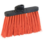Carlisle 3686824 Duo-Sweep Heavy-Duty Angled Broom Head with Unflagged Orange Bristles - 12/Case