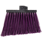 Carlisle 3686868 Duo-Sweep Heavy-Duty Angled Broom Head with Unflagged Purple Bristles - 12/Case