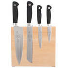 Mercer M21960 Genesis 5-Piece Rubberwood Magnetic Board and Knife Set