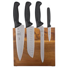 Mercer M21982 Millennia 5-Piece Acacia Magnetic Board and Black Handle Knife Set