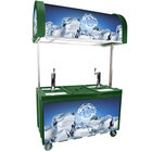 Green IRP-2060 IDC Ice Down Mobile Draft Cart with Illuminated Canopy - (2) 1/2 Keg