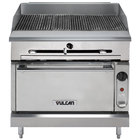 Vulcan VTC36S-LP Liquid Propane 36 inch Gas Floor Model Infrared Charbroiler with Standard Oven Base - 116,000 BTU