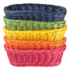 Tablecraft HM1174A Oval Rattan Basket 9 1/4