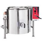 Vulcan K20GLT-LP Liquid Propane 20 Gallon Tilting 2/3 Steam Jacketed Kettle - 100,000 BTU