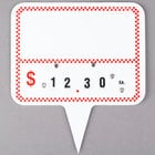 Write On Deli Sign Spear Wheel with Insert - Red Checkered