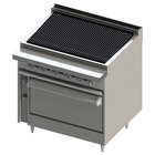 Blodgett BR-36B-36C-NAT Cafe Series Natural Gas 36 inch Radiant Charbroiler with Convection Oven - 120,000 BTU