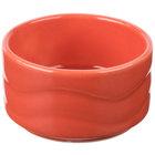 Syracuse China 903034600 Cantina 2 oz. Cayenne Carved Stacking Porcelain Bowl - 24/Case