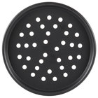 American Metalcraft HC2012P 12 inch Perforated Hard Coat Anodized Aluminum Tapered / Nesting Pizza Pan