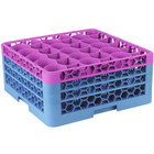 Carlisle RW30-2C414 OptiClean NeWave 30 Compartment Lavender Color-Coded Glass Rack with 3 Extenders