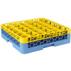 Carlisle RW30-C411 OptiClean NeWave 30 Compartment Yellow Color-Coded Glass Rack with 1 Integrated Extender