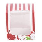 Baker's Mark Printed 1-Piece Candy Apple Box with Window - 10/Pack