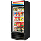 True GDM-26F-HC-LD 26 inch Black Glass Door Merchandiser Freezer with LED Lighting