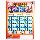 Coffee Slots 3 Window Pull Tab Tickets - 2716 Tickets per Deal - Total Payout: $2316