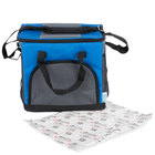 Choice Insulated Cooler Bag / Soft Cooler, Blue 12 inch x 9 inch x 11 1/2 inch 24 Can, with Microcore Thermal Hot or Cold Pack Kit