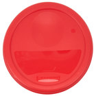 Rubbermaid 1980337 Color-Coded 2 / 4 Qt. Red Round Food Storage Container Lid