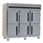 Delfield SAF3-SH 79 Cu. Ft. Three Section Solid Half Door Reach In Freezer - Specification Line