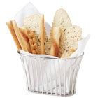 GET 4-88840 8 1/4 inch x 5 inch Stainless Steel Stackable Oval Tuscan Basket