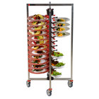 Plate Mate PM48-155 Collapsible / Folding Mobile Plate Rack Holds 48 Plates 50 5/8 inchH