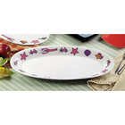 CAC R-51 Oval Seafood Platter 15 inch x 10 1/2 inch - 12/Case
