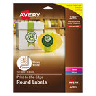 """Avery AVE22807 Easy Peel 2"""" True Print White Glossy Round Print-to-the-Edge Labels - 120/Pack"""