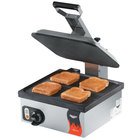 Vollrath 40792 Cayenne 14 inch Single Panini Sandwich Press - Smooth Non Stick Plates 120V