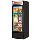 True GDM-23F-LD Black Glass Door Merchandiser Freezer with LED Lighting - 23 Cu. Ft.
