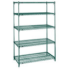 Metro 5A437K3 Stationary Super Erecta Adjustable 2 Series Metroseal 3 Wire Shelving Unit - 21 inch x 36 inch x 74 inch